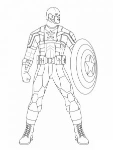 captain america logo coloring page