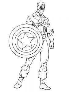 captain america mask coloring page