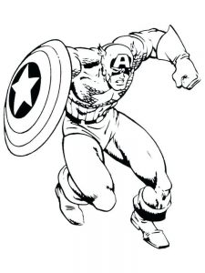 captain america red skull coloring pages