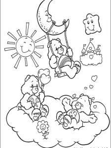 care bear christmas coloring pages