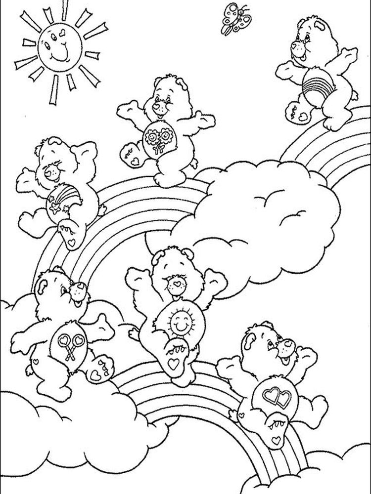 care bear coloring pages free