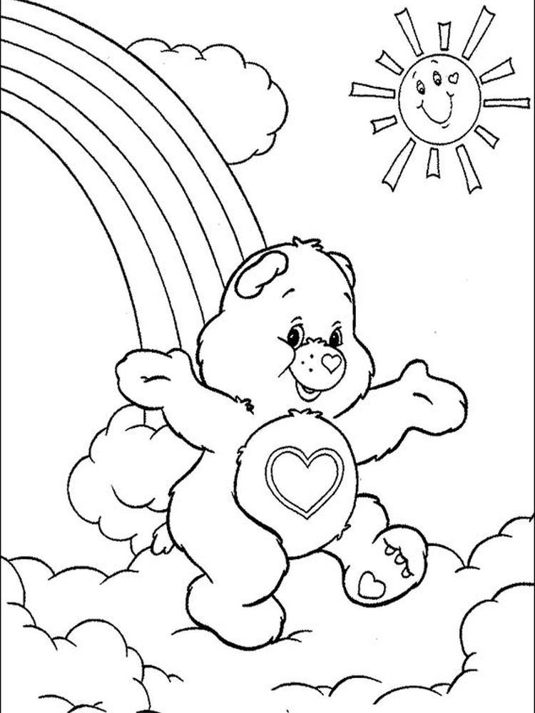 care bear coloring pages full