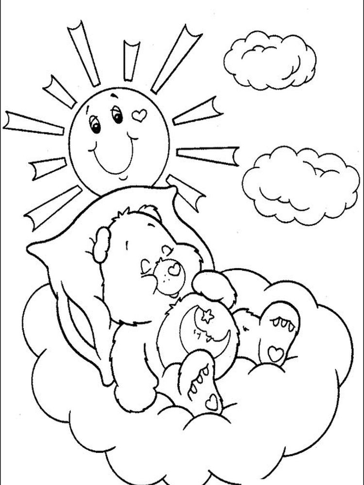 care bear colouring pages online
