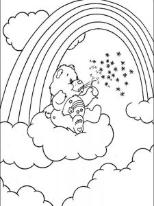 care bear colouring pages to print