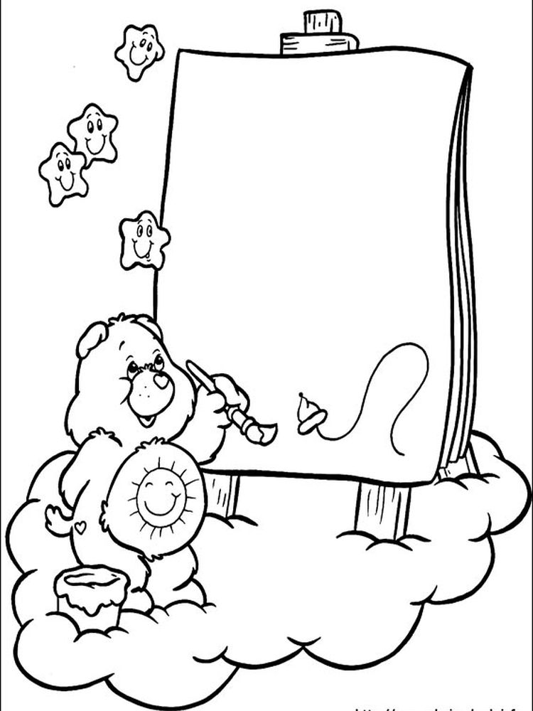 care bear cousins coloring pages