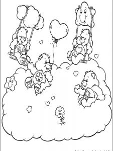 care bears adventures in care a lot coloring pages