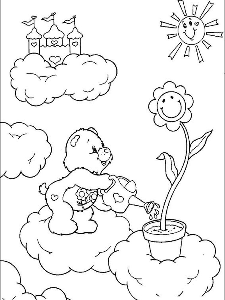 care bears coloring pages free online