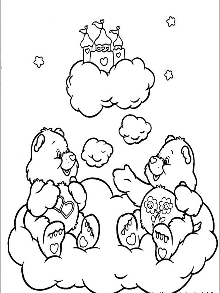 care bears coloring sheets printable