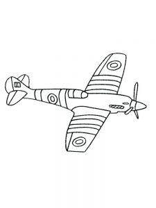 cartoon airplane coloring pages 1