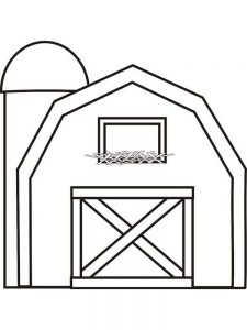 cartoon barn coloring pages