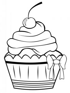 cartoon cupcake coloring pages