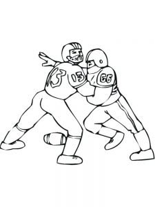 cartoon football player coloring pages