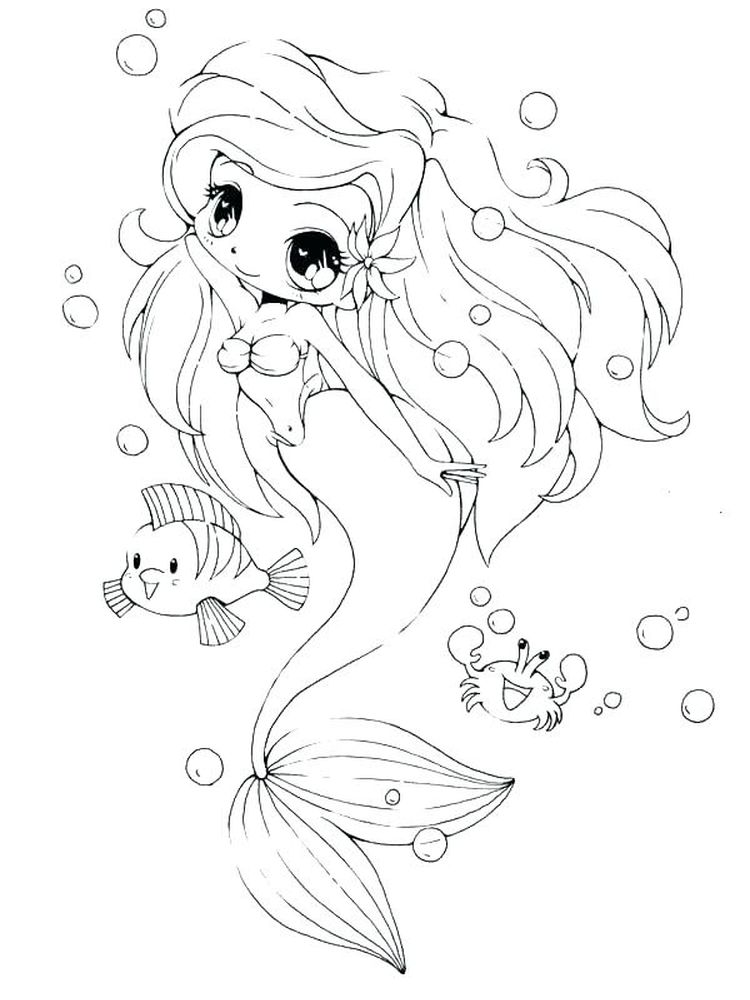 cartoon mermaid coloring pages