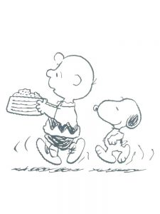 charlie brown birthday coloring pages free