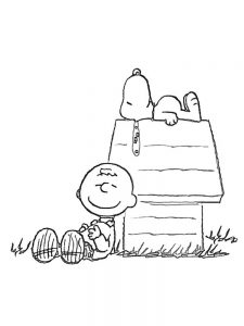 charlie brown coloring pages printable