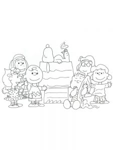 charlie brown winter coloring pages printable