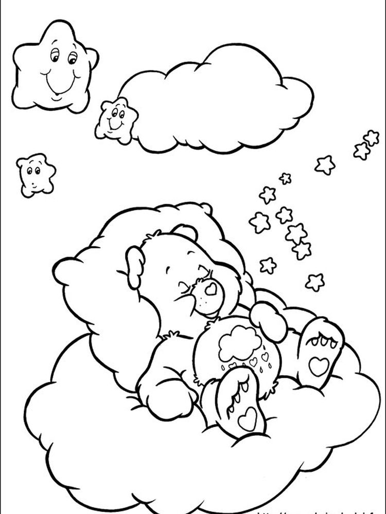 cheer bear care bear coloring pages
