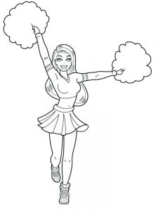 cheerleader bratz coloring pages free printable