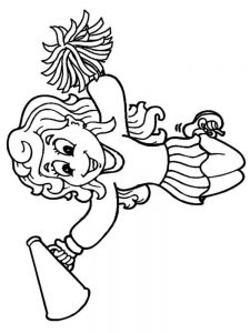 cheerleader coloring pages image