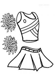 cheerleader coloring pages to print free