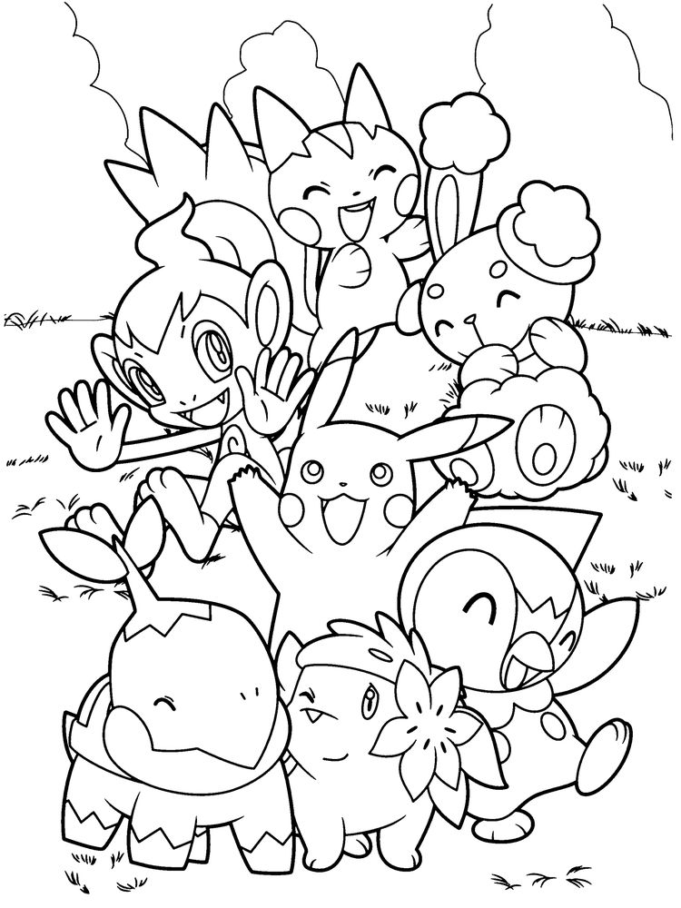 chespin pokemon coloring page