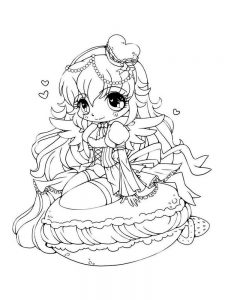 chibi anime coloring pages printable