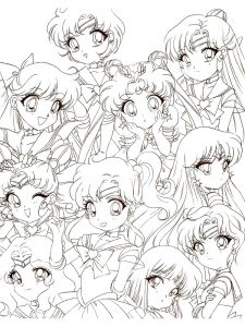 chibi colouring in page