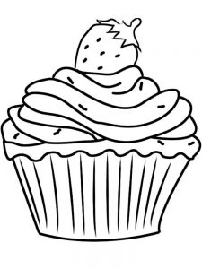 chibi cupcake coloring pages