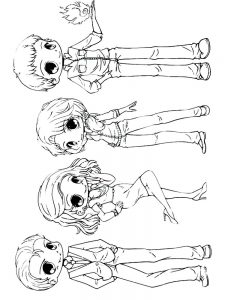 chibi new coloring pages
