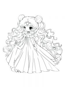 chibi pdf coloring pages