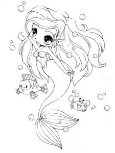 chibi princess coloring pages