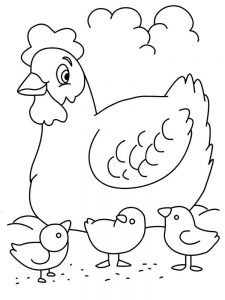 chick coloring pages 040