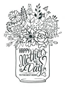 christian mothers day coloring page