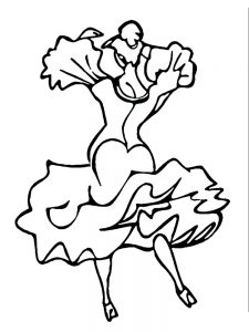 christmas ballerina coloring page