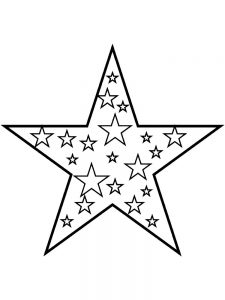christmas stars coloring pages