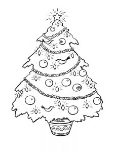 christmas tree and snowman coloring pages