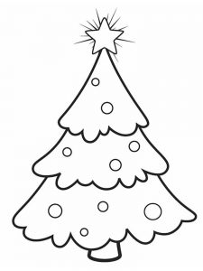christmas tree coloring pages for kids printable