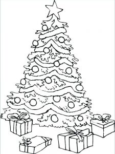 christmas tree coloring pages spongebob
