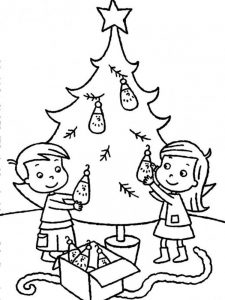 christmas tree coloring pages to print free