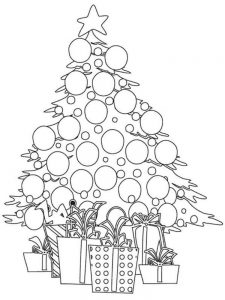 christmas tree mandala coloring pages