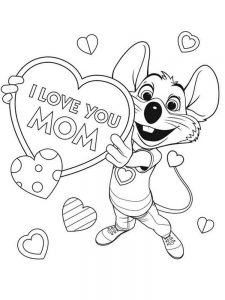 chuck e cheese coloring pages image