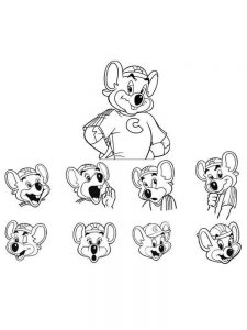 chuck e cheese coloring pages print