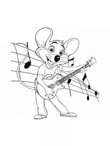 chuck e cheese coloring pages sheet