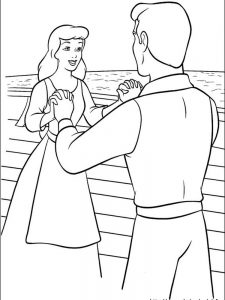 cinderella black and white coloring pages