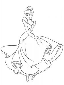cinderella coloring pages free to print