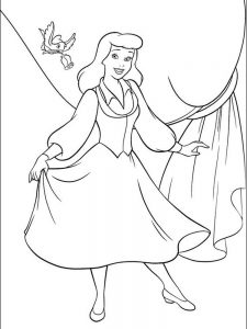 cinderella coloring pages kids