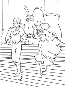 cinderella coloring pages online for free
