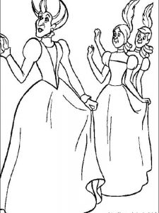 cinderella coloring pages pdf