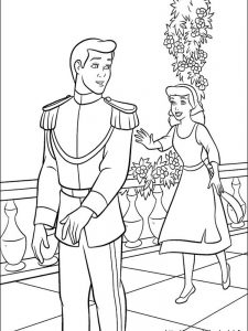 cinderella free coloring pages