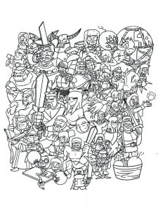 clash royale coloring pages collection free
